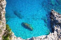 Blauw water van oceaan Stock Foto