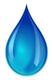 Blauw waterdruppeltje Royalty-vrije Stock Afbeeldingen