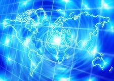 Blauw wereldnet Stock Fotografie