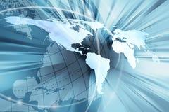 Blauw wereldontwerp Royalty-vrije Stock Foto