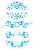 Blauw wervelingsontwerp Royalty-vrije Stock Foto's