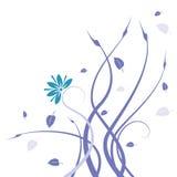 Blauw wild bloem en wijnstokkenpatroon vector illustratie