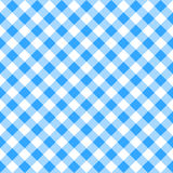 Blauw wit plaidtafelkleed Royalty-vrije Stock Foto's