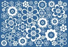 Blauw-witte achtergrond Royalty-vrije Stock Afbeelding