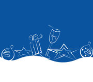 Blauw-witte Kerstmisraad stock illustratie