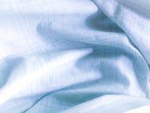 Blauw - Witte stof Stock Afbeeldingen