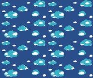 Blauw wolken naadloos patroon Royalty-vrije Stock Afbeelding