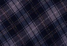 Blauw wollen geruite Schotse wollen stof. Royalty-vrije Stock Afbeelding