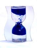 Blauw zand-glas stock afbeeldingen