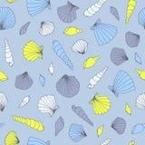 Blauw zeeschelppatroon Stock Afbeelding