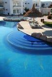 Blauw zwembad Royalty-vrije Stock Foto's