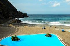 Blauw zwembad Stock Foto