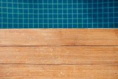 Blauw zwembad Stock Foto's