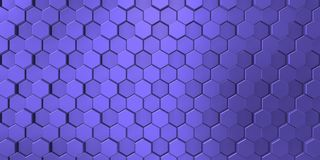 Blauwachtig beeld van decoratieve die metaalhulp door de unie van zeshoeken wordt gevormd stock illustratie
