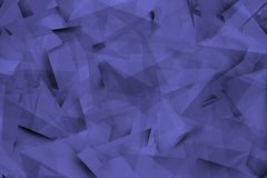 Blauwachtige achtergrond met hoeken en schaduwen Stock Afbeelding