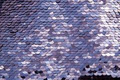 Blauwachtige lovertjetextuur stock fotografie