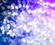 Blauwachtige violette Kerstmislichten Stock Illustratie