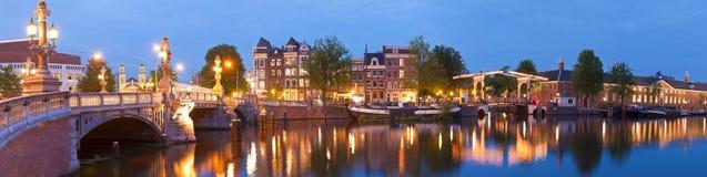 Blauwbrug, Amsterdão Imagens de Stock
