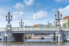 Blauwbrug (Blue Bridge) in Amsterdam, Netherlands. Stock Image