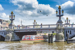 Blauwbrug (Blue Bridge) in Amsterdam, Netherlands. Royalty Free Stock Photos