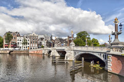 Blauwbrug bridge in Amsterdam Stock Image
