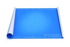 Blauwdruk stock illustratie