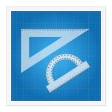 Blauwdruk en heersersinstrumenten Royalty-vrije Stock Afbeelding
