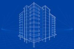 Blauwdruk van de Bouw vector illustratie