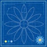 Blauwdruk van een bloem Royalty-vrije Stock Foto's