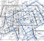 De abstracte achtergrond van de blauwdruk. Vector Royalty-vrije Stock Afbeeldingen