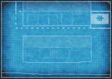 Blauwdruk van wijzigingen aan een huis Royalty-vrije Stock Afbeeldingen