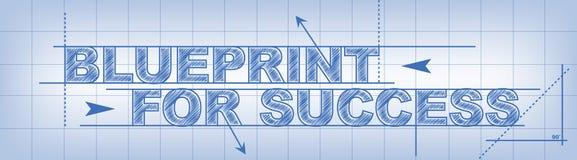 Blauwdruk voor Succes Stock Afbeelding
