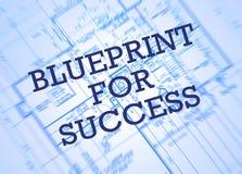 Blauwdruk voor succes Stock Fotografie