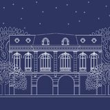 Blauwdrukhuis Royalty-vrije Stock Foto's