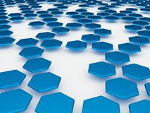 Blauwe 3d achtergrond Royalty-vrije Illustratie