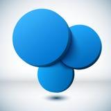 Blauwe 3D cirkelachtergrond. royalty-vrije illustratie