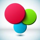 Blauwe 3D cirkelachtergrond. vector illustratie