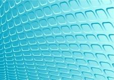 Blauwe 3d retro metaalvector stock illustratie