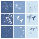 Blauwe aardachtergronden Stock Foto's