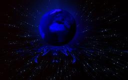 Blauwe aarde Stock Afbeelding