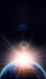 Blauwe aarde in ruimte Royalty-vrije Stock Fotografie