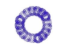Blauwe aardige fractal royalty-vrije illustratie