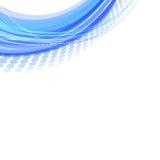 Blauwe abstracte achtergrond. Stock Afbeeldingen