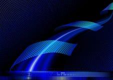 Blauwe abstracte achtergrond. Royalty-vrije Stock Foto