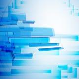 Blauwe Abstracte Achtergrond. Stock Foto