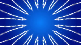 Blauwe abstracte achtergrond, caleidoscoop, lijn stock video