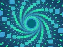 Blauwe abstracte achtergrond en vierkanten stock illustratie