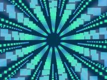 Blauwe abstracte achtergrond en vierkanten royalty-vrije illustratie