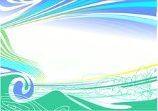 Blauwe abstracte achtergrond /EPS stock illustratie