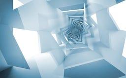 Blauwe abstracte achtergrond, fantasie spiraalvormig patroon Royalty-vrije Stock Afbeeldingen